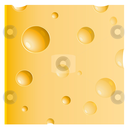 Piece of cheese stock vector.