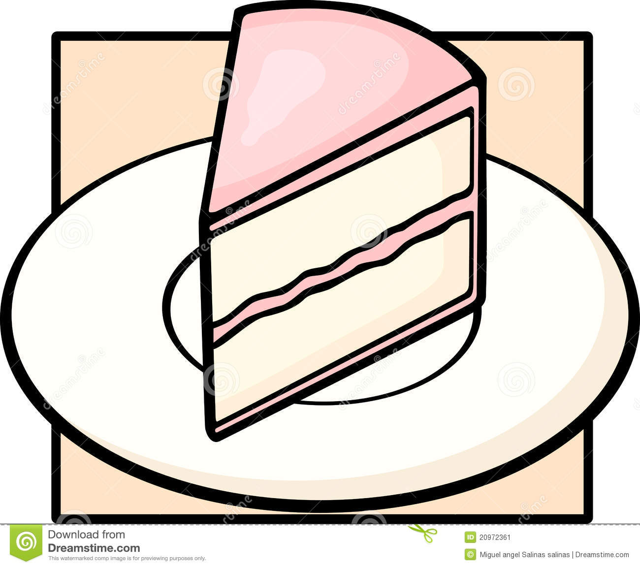 Sliced Cake Logos Clip Art.