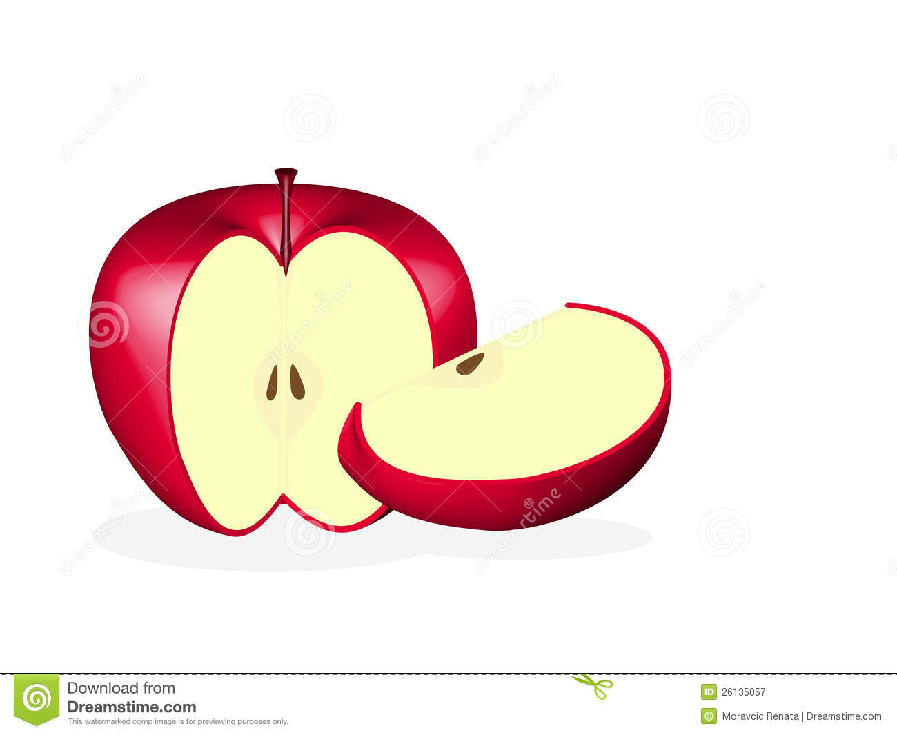 Apple Slices Clipart.
