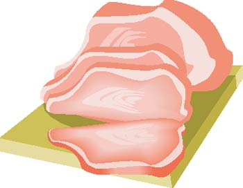 Sliced Meat Clipart.