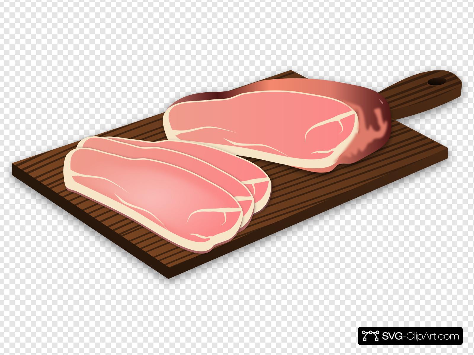 Sliced Ham Clip art, Icon and SVG.