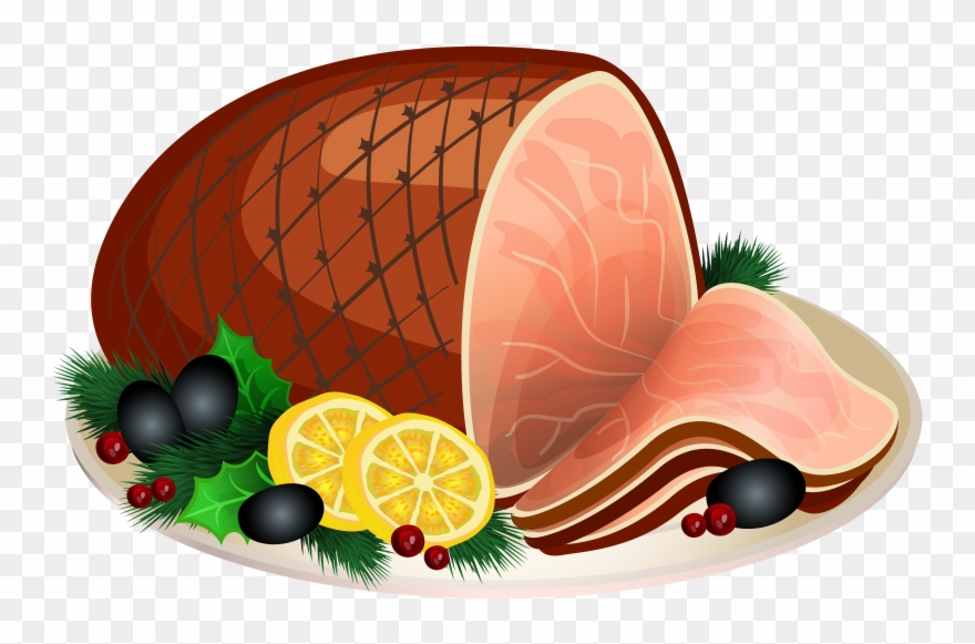 Sliced Ham Clipart.
