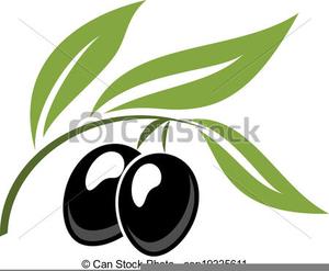 Black Olives Clipart.