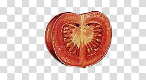 Vegetables , sliced tomato transparent background PNG.