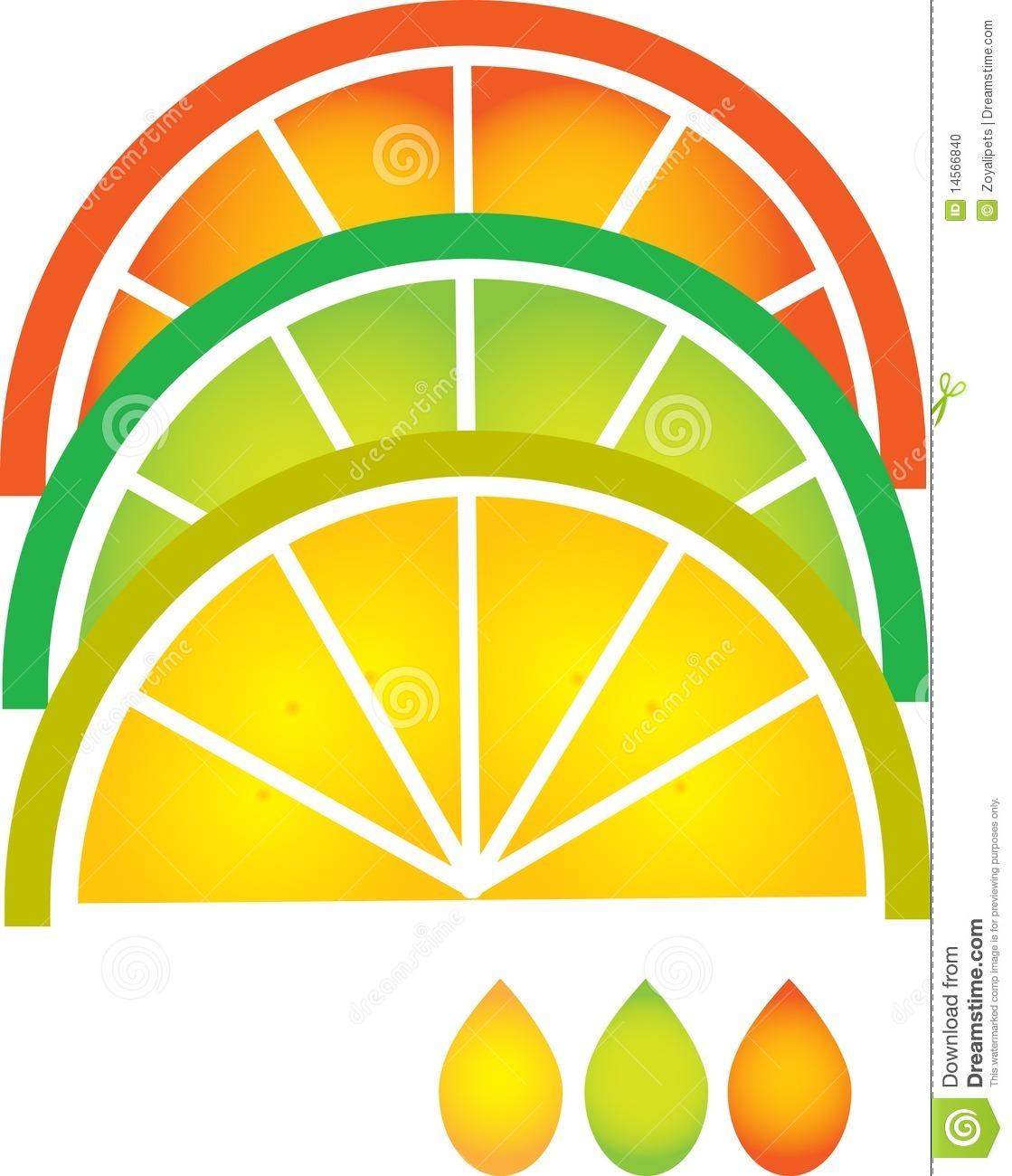 Orange Slice Clipart Lime And Orange Slices.