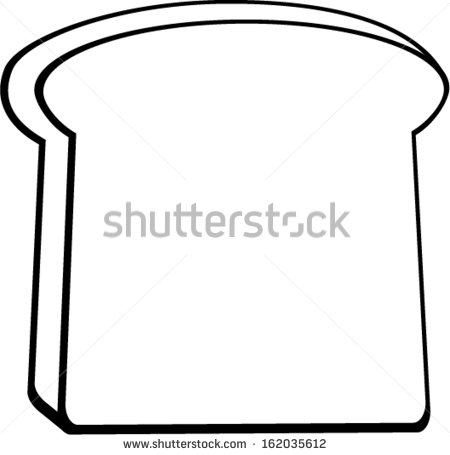 Clipart Toast Black And White.