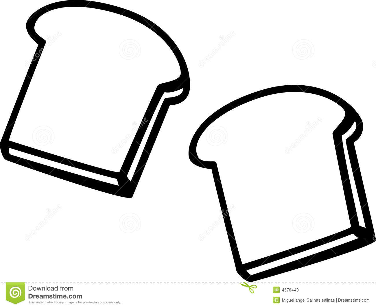 Toast Black And White Clipart.