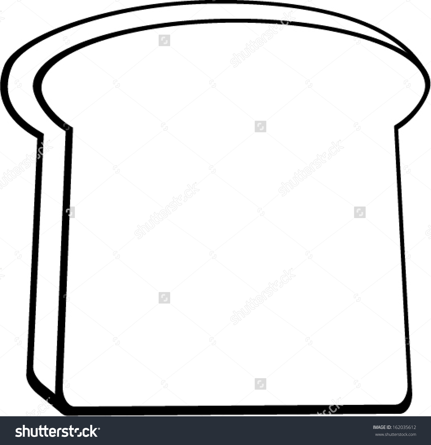 Toast Bread Slice Stock Vector 162035612.