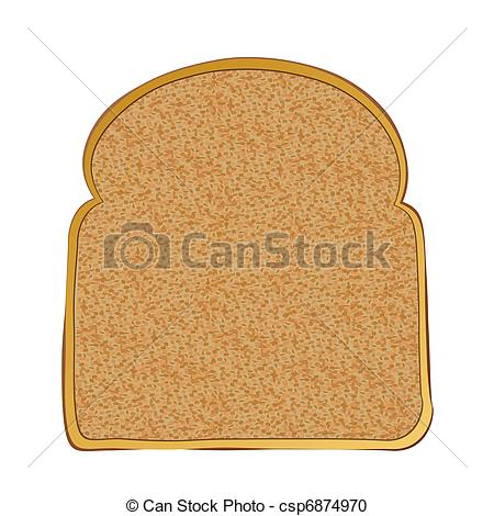 Vector Clipart of Slice of toast.