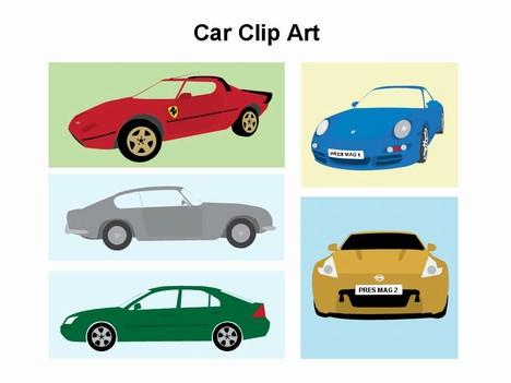 Cars Clip Art Template.