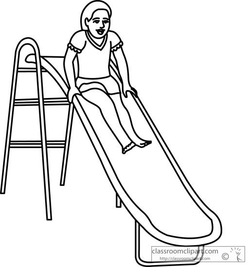 clipart playground slide.