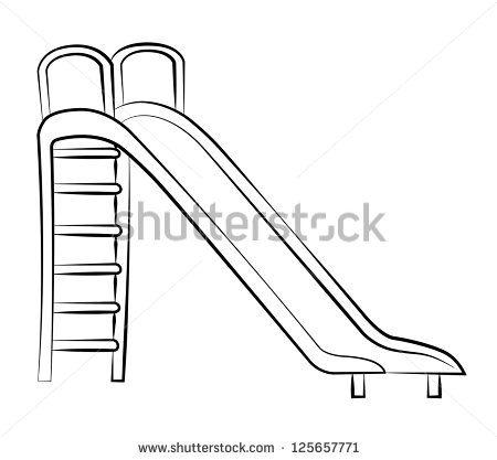 slide clipart black and white.