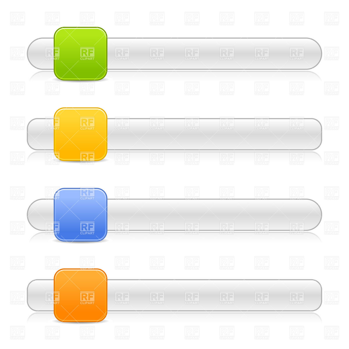 Scroll box or slider template with square button Vector Image.