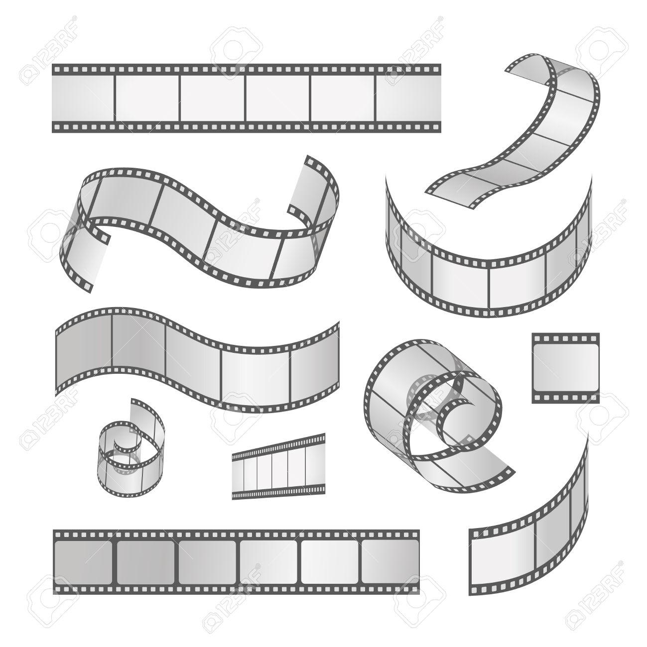 Photo clipart of slide film.