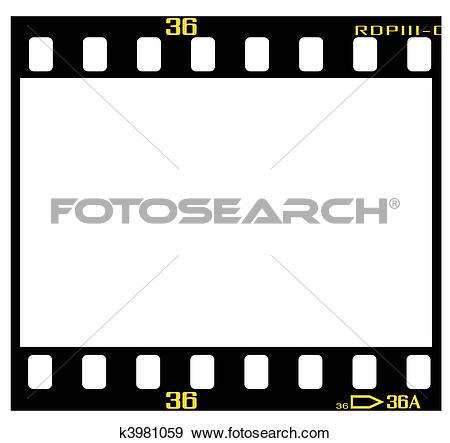 Clip Art of slide film frame k3981059.
