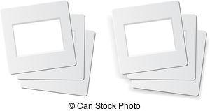 Clipart Vector of 35mm slide film frames.