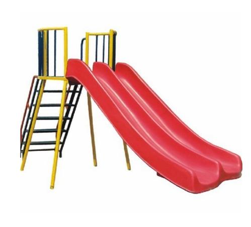 Red Fibreglass Double Decker Slide, Height: 6 Ft.