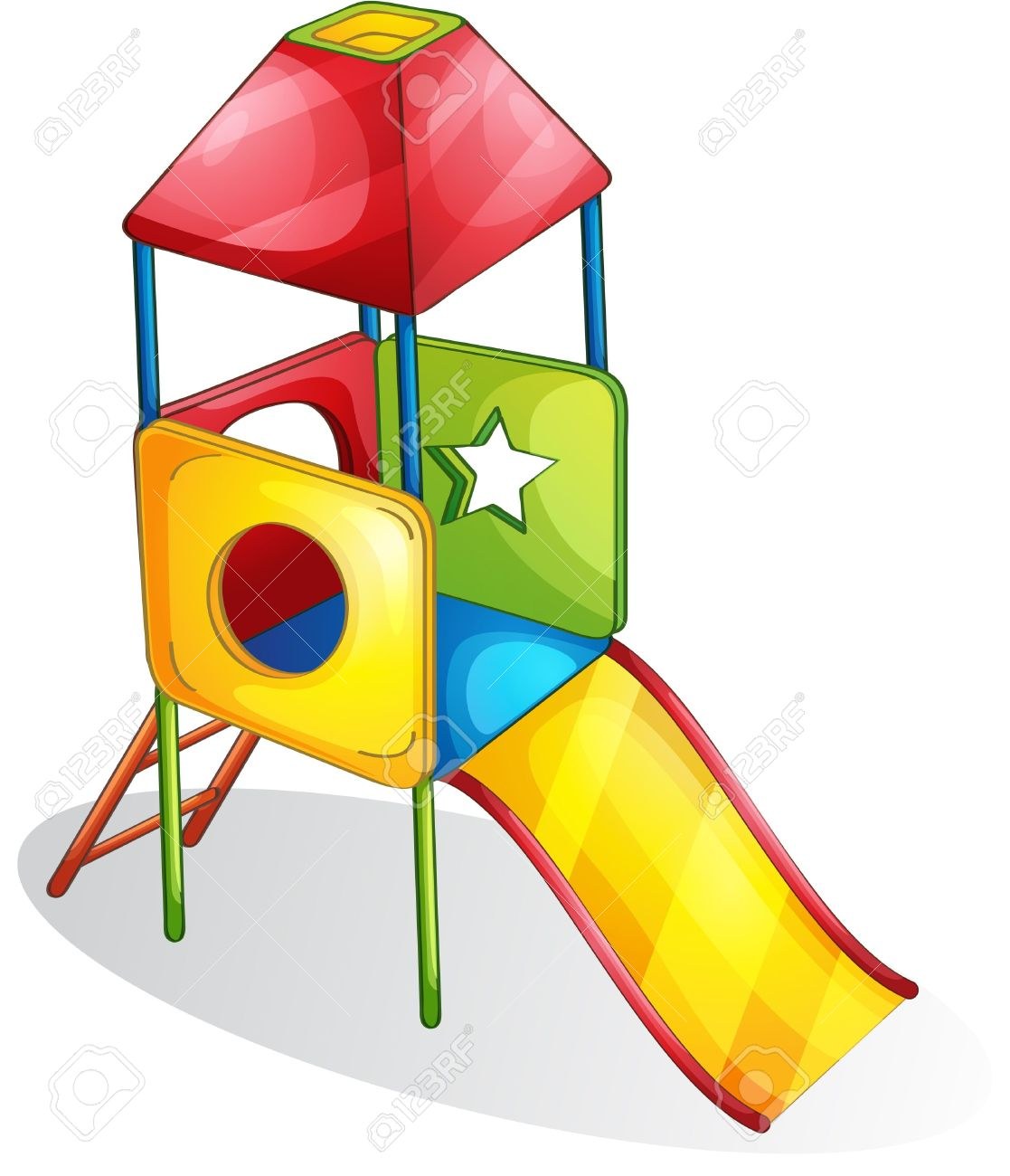 Illustration Of A Colorful Slide Royalty Free Cliparts, Vectors.