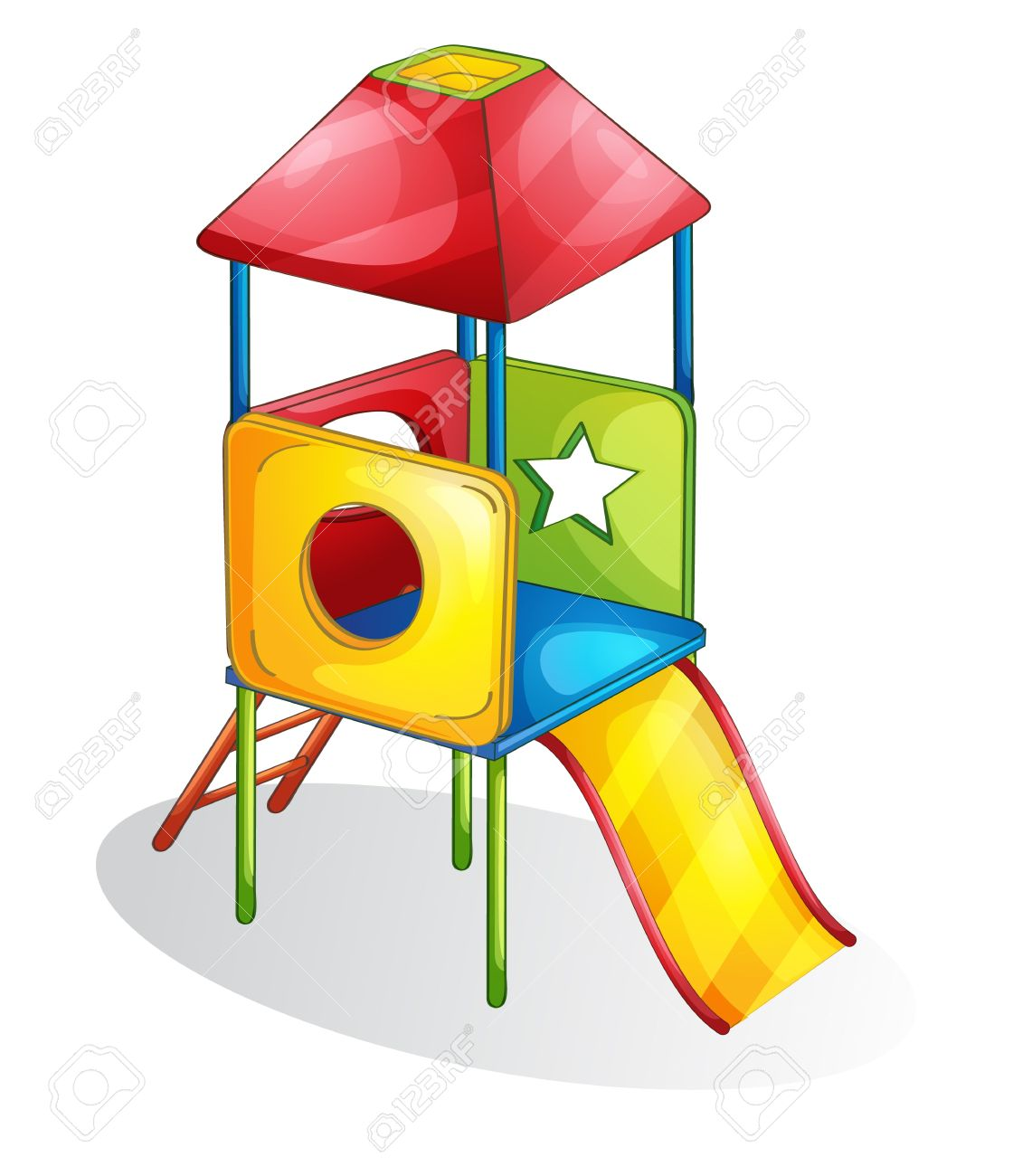 Isolated Play Equipment On White Royalty Free Cliparts, Vectors.
