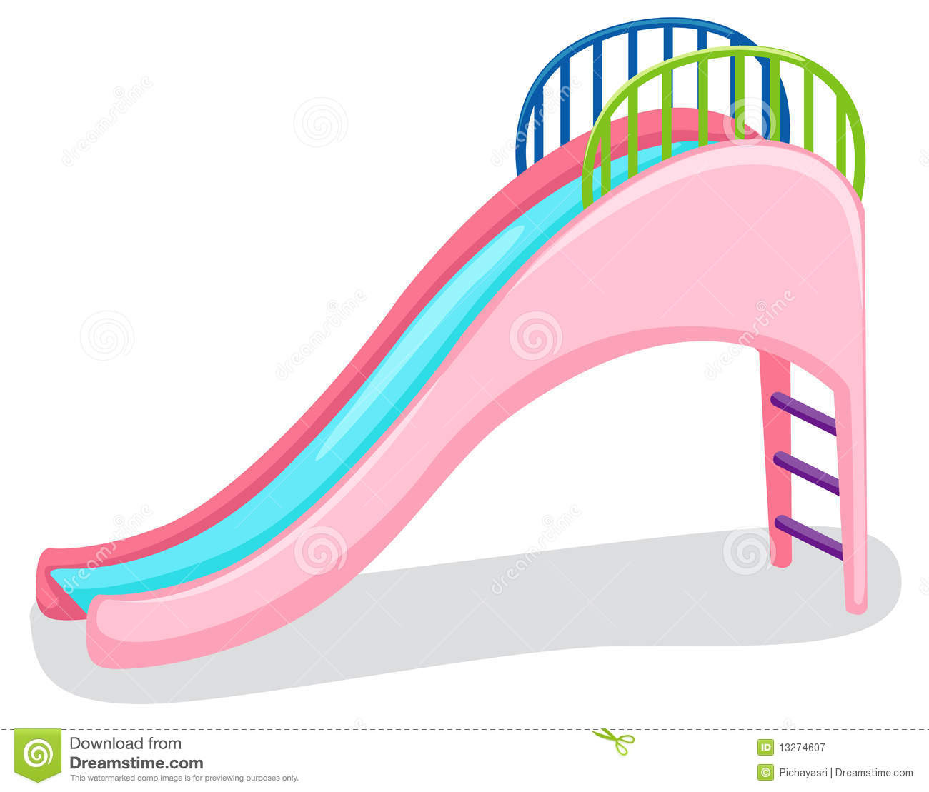 Playground Slide Clipart.