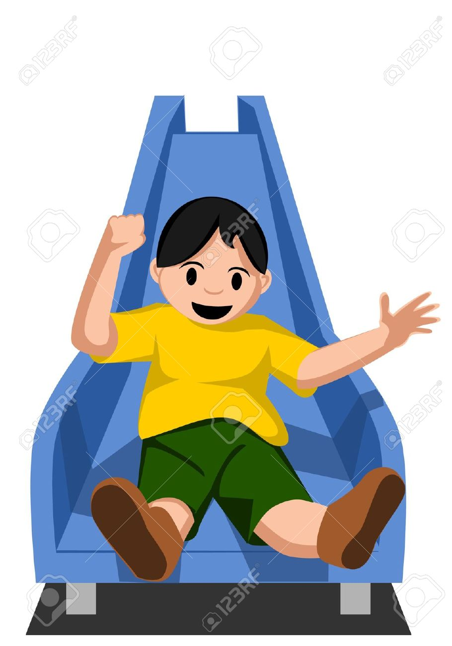 Kid Sliding Royalty Free Cliparts, Vectors, And Stock Illustration.