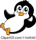 Clip Art Baby Penguins Sliding Clipart.