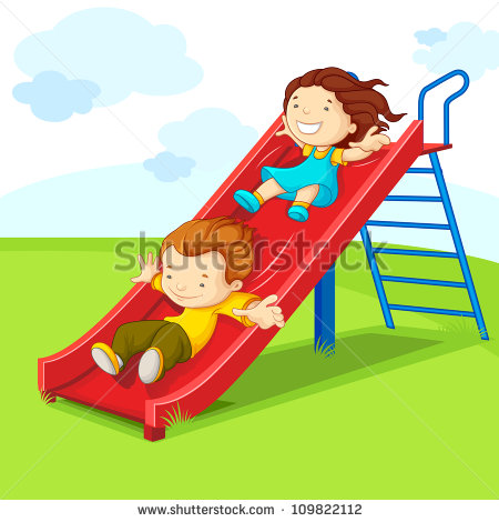 Playground Slide Stock Images, Royalty.