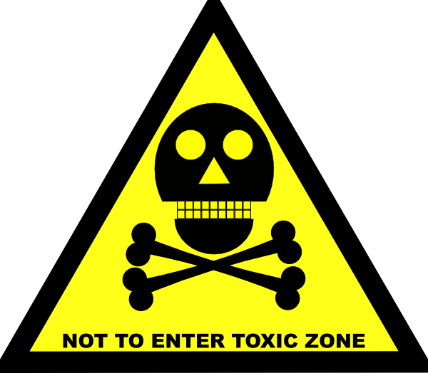 Do Not Enter Toxic Zone Sign clip art Free Vector / 4Vector.