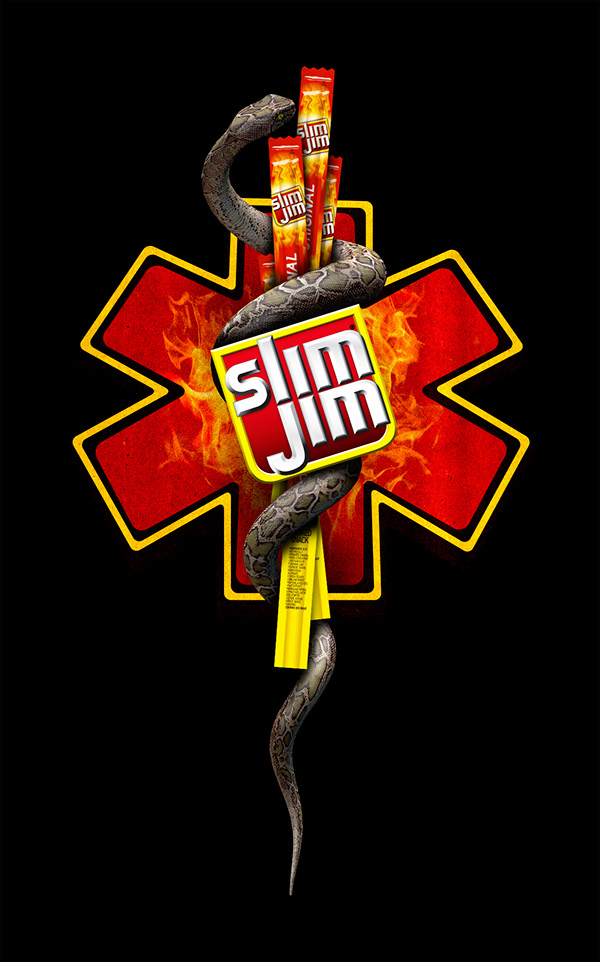 Slim Jim Man Medicine Caduceus logo variations. on Behance.