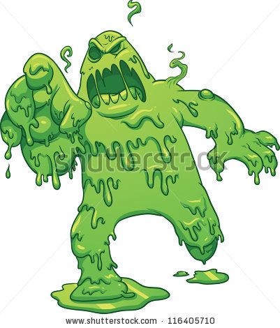 Kid slimy monster clipart.