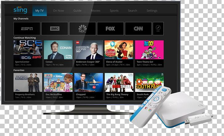 Sling TV AirTV Player Television Channel Streaming Media PNG.