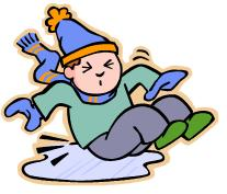 Slip and fall clip art.