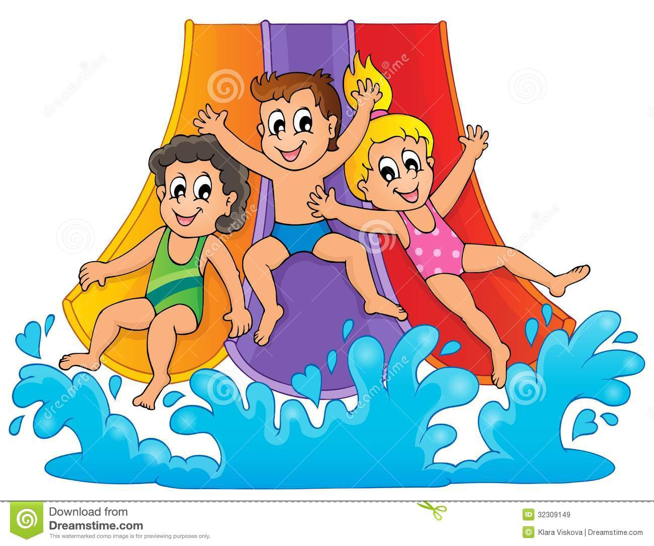 41+ Water Slide Clip Art.