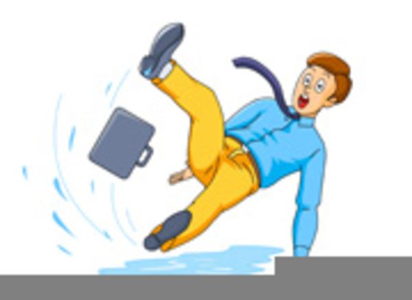 Clipart Of Person Slipping On Ice.