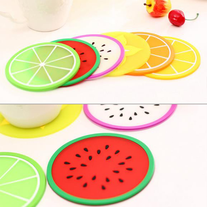 Fruit Silicone Cup Coaster Anti.