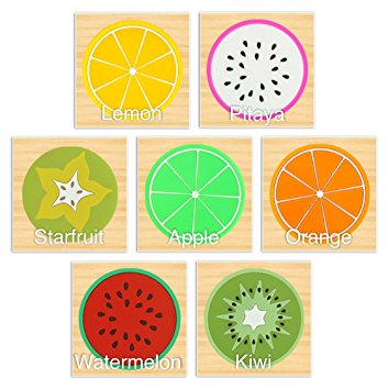 Set of 7 Colourful Fruit Silicone Drink Coasters With Non Slip.