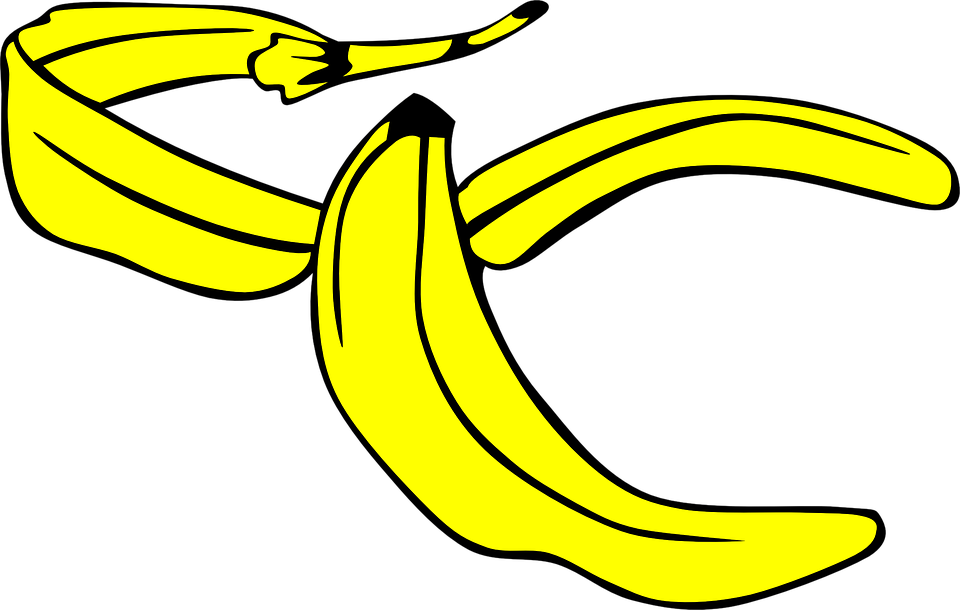 Free vector graphic: Banana, Yellow, Peel, Slip, Fruit.