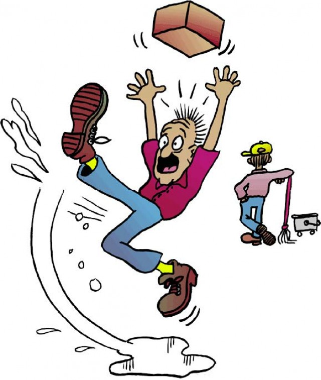 SMDC Safety: Don\'t slip up and fall down on the job.