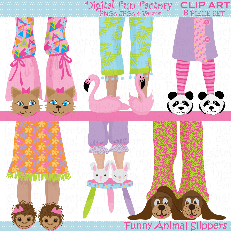 Funny Pajama Clipart.