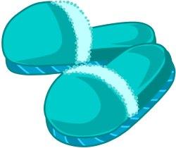 Slippers clip art.