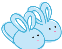 Bunny Slippers Clipart.