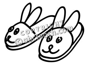 Slippers Clipart Black And White.