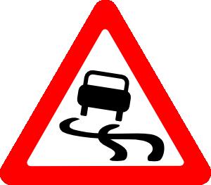 Slippery roads clipart.