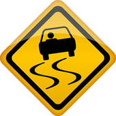 Icy Roads Clipart.