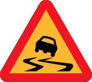 Slippery Road Sign Clip Art at Clker.com.