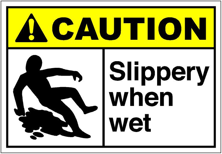 Clipart slippery when wet.
