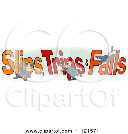 slips and trips clipart #4