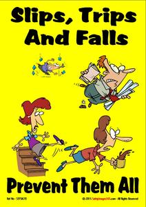 Slips, Trips & Falls Safety Posters.