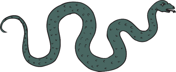 Green Slithering And Hissing Snake Clip Art at Clker.com.