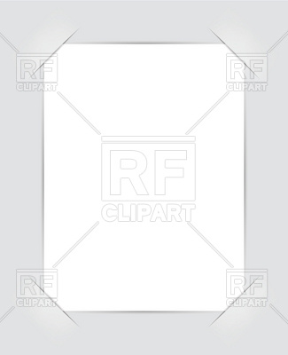Scrapbook photo frame corner slits Vector Image #7200.